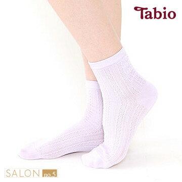 日本靴下屋Tabio 網眼花邊圖案棉質短襪
