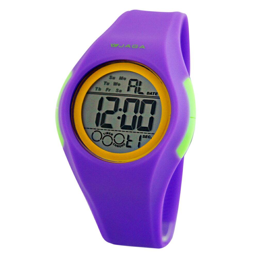 JAGA 捷卡 M984-J 多功能防水100米運動電子錶 - 紫 - 限時優惠好康折扣