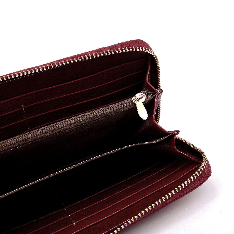 【BEIBAOBAO】法式 編織真皮時尚皮夾(甜莓紅) 3