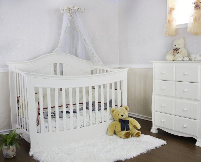 【Rockland】奧斯丁嬰兒床(2色)-附贈床墊+床側護欄 1