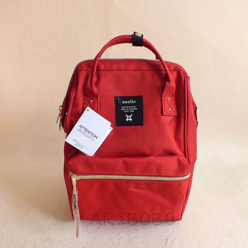 【日本anello】ANELLO 雙肩後背包 《小號》- 紅色 0