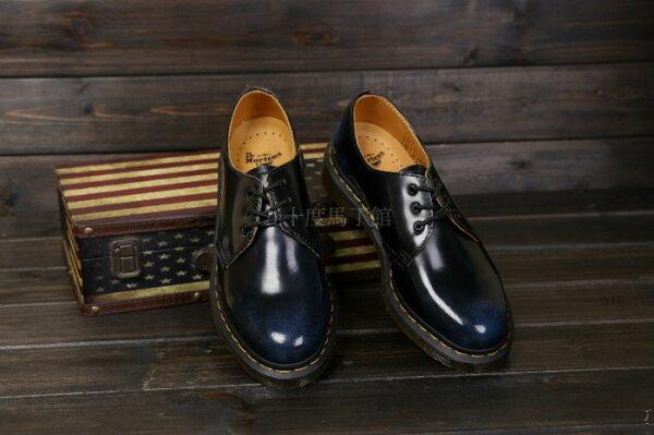 【九十度馬丁管】【兩日到貨】【免運】【3孔擦色藍】Dr. Martens馬丁馬汀靴子