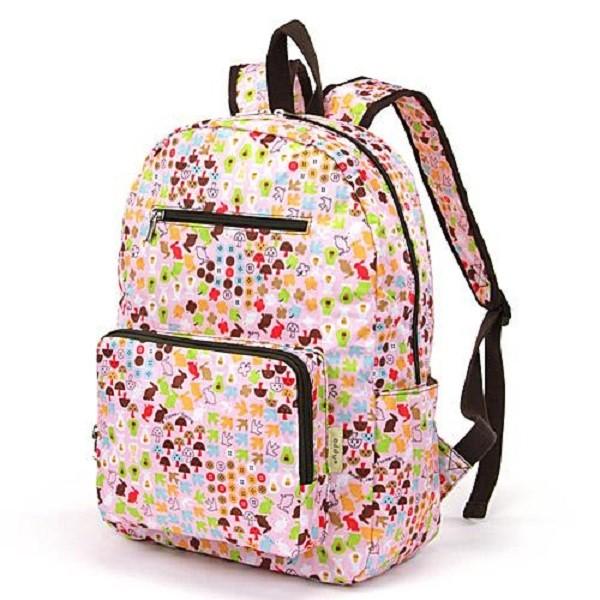 【現貨+預購】摺疊收納旅行後背包 -日本設計款 粉紅菇菇 0