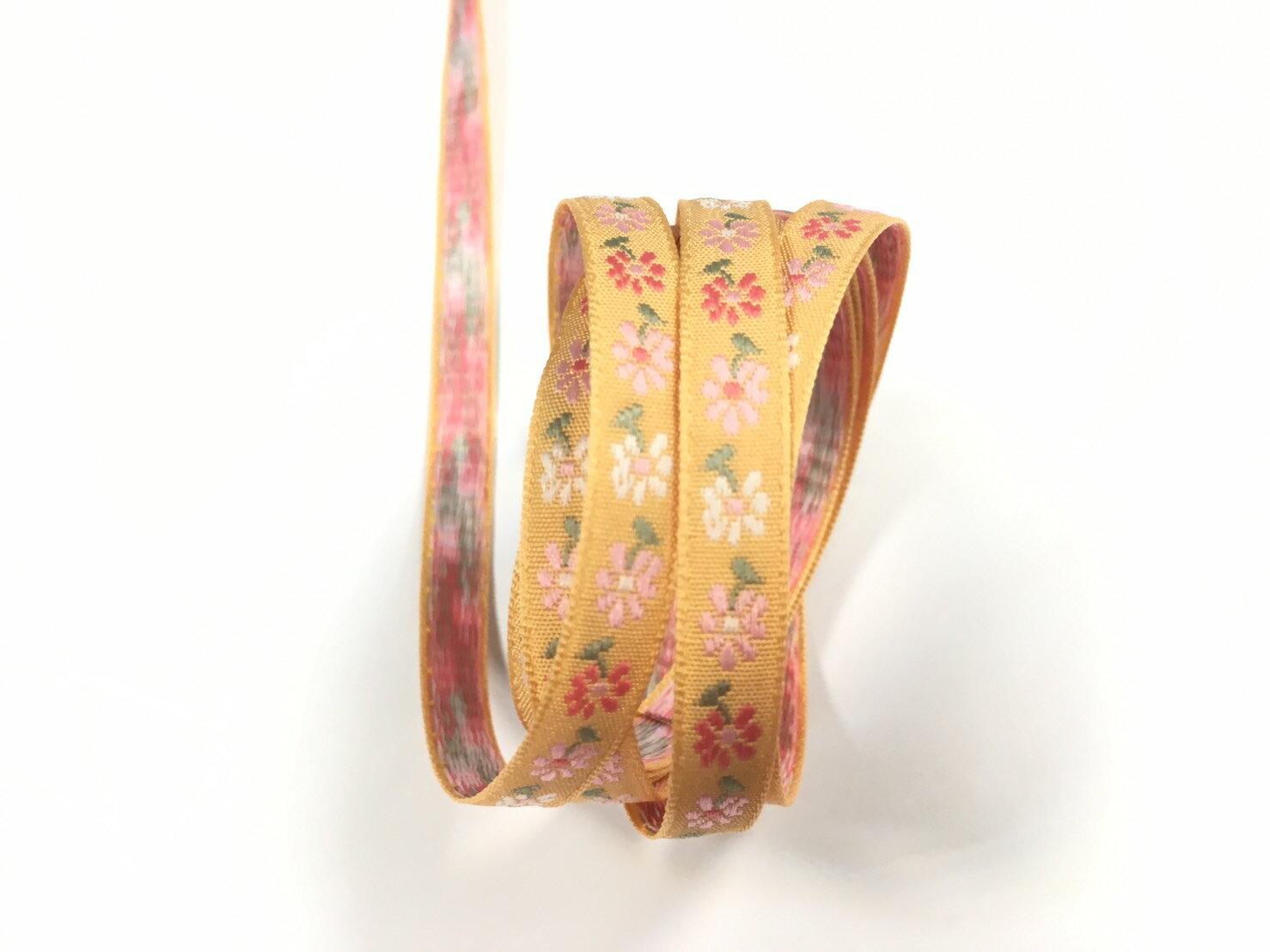 五瓣緹花緞帶 9mm 3碼 (7色) 5