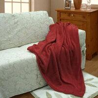 夏日寢具 | 涼感枕頭/涼蓆/涼被/涼墊到週慶下殺↘5折up【摩爾】超細纖維隨意毯-紅色(130x170cm)