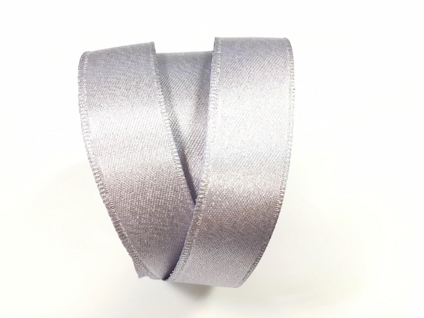 【Crystal Rose緞帶專賣店】金粉緞面鐵絲帶  3碼 (10色) 0