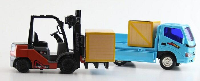 小小家 磨輪小堆高機+磨輪小貨車 32526 1
