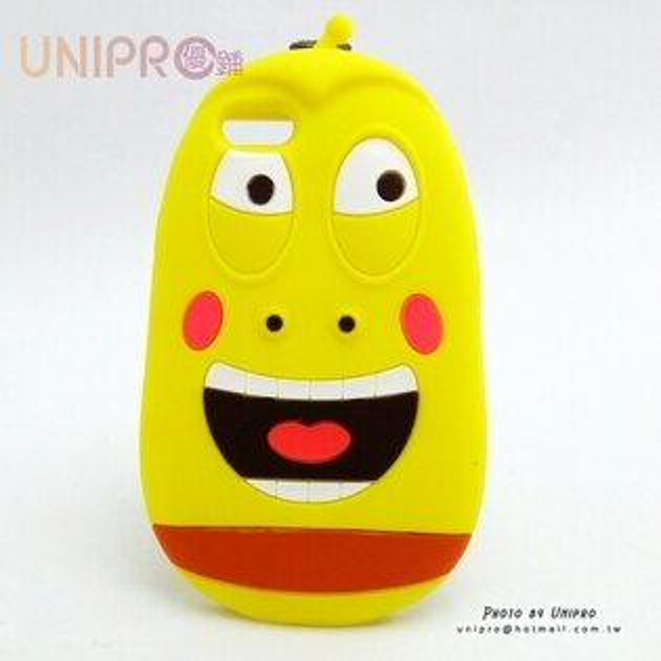 【UNIPR】iPhone 5 5S 韓國卡通 Larva 逗逗蟲 耶魯 矽膠手機殼 i5 軟殼