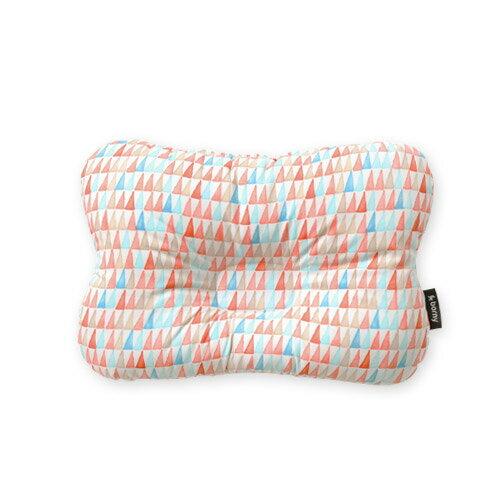 韓國【 Borny 】 3D透氣蜂巢塑型嬰兒枕(0~6個月適用)(橘線筆) 0