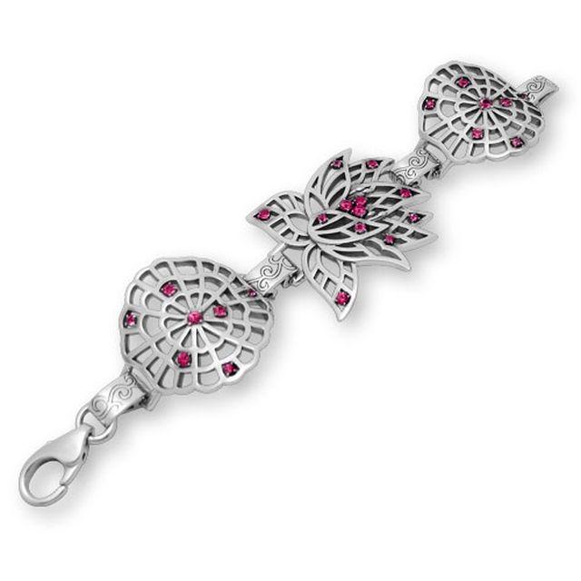 【海外訂購】【KONRON】永遠的蓮紅寶石純銀手鍊 S (KRB0656s-r  0329240200) 2