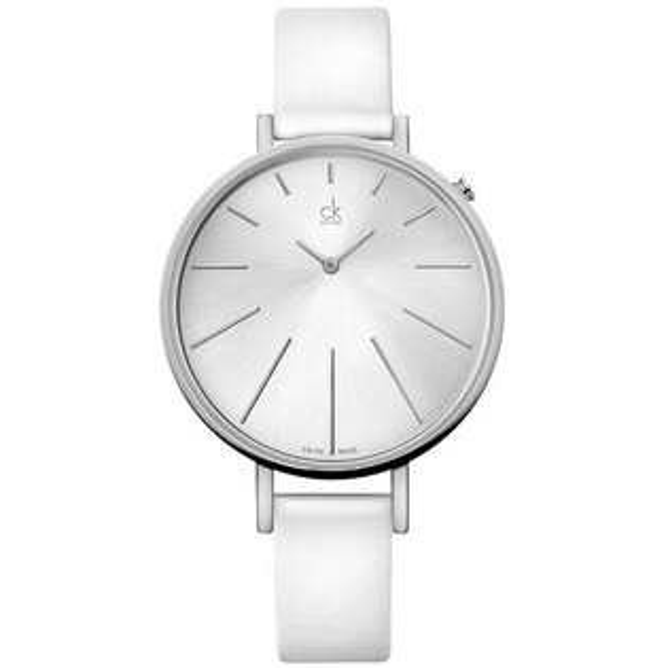 CK 光芒系列(K3E236L6)太陽光芒時尚腕錶/白面40.5mm