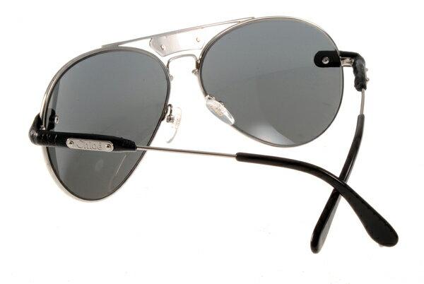 [Anson King]法國100%正品代購 CHLOE 克羅伊 好萊塢 時尚飛行復古皮革 CL2104系列 銀黑色 6