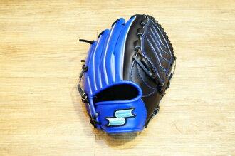 棒球世界 全新SSK SUPER SOFT 棒壘球手套 特價 黑藍配色 投手