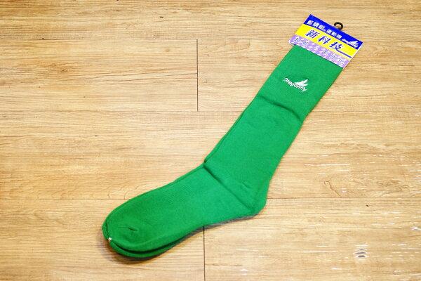 棒球世界 全新Dragonfly藍蜻蜓成人用球襪 特價 綠色