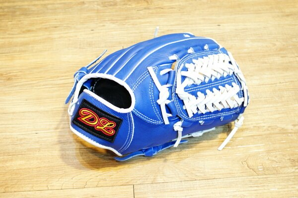 〈棒球世界〉DL訂製款 內野手式樣 棒壘球手套 /12.吋/送手套袋/藍色