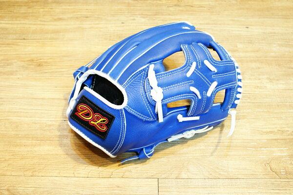 〈棒球世界〉DL訂製款 內野手亞字式樣 棒壘球手套 /12.吋/送手套袋/藍色