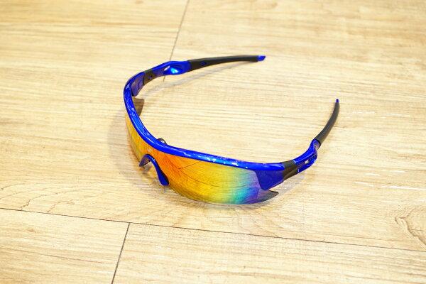 棒球世界2011SSK運動型太陽眼鏡 藍框款 oakley 式樣 新販售