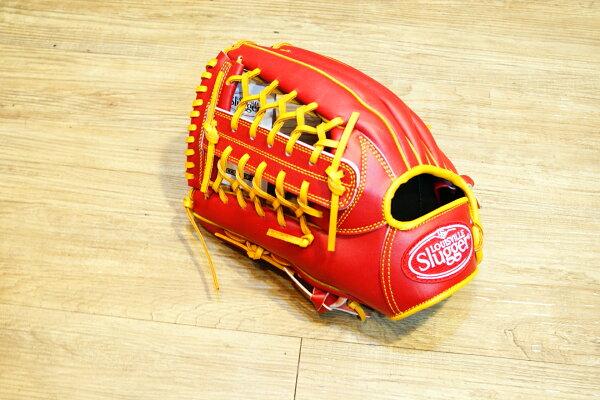 棒球世界 全新Louisvill Slugger 路易斯威爾TPX紅黃配色外野手手套 特價 反手用