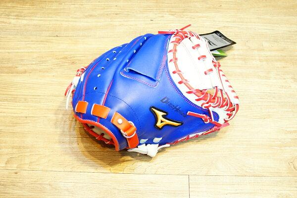 棒球世界 Mizuno美津濃 deep hollow硬式手套 1ATCH50400 特價 棒球用捕手 中華隊配色