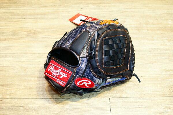 棒球世界全新日本進口Rawlings 棒球用手套 12吋 內野投手 迷彩款式