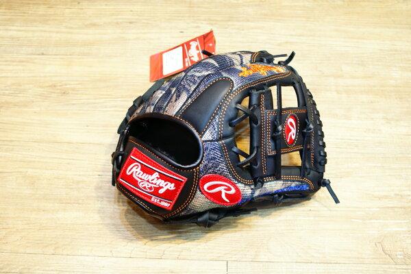 棒球世界全新日本進口Rawlings 棒球用手套 11.5吋 內野工字 迷彩款式
