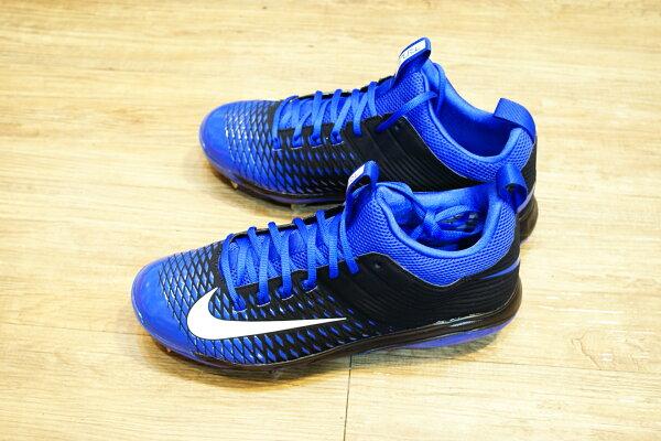 棒球世界全新16年 NIKE trout 2 pro 棒球鐵釘鞋 特價 固定釘 黑藍配色