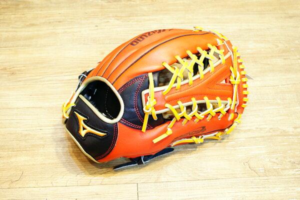 棒球世界 Mizuno 美津濃 FRIEND SHIP 壘球手套 1ATGS50860 特價黑橘配色Y網檔