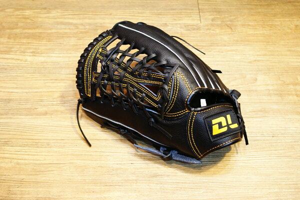 〈棒球世界〉DL最新款平價的牛皮棒壘球手套 外野手用 送手套袋 不景氣也要全民打棒球反手用