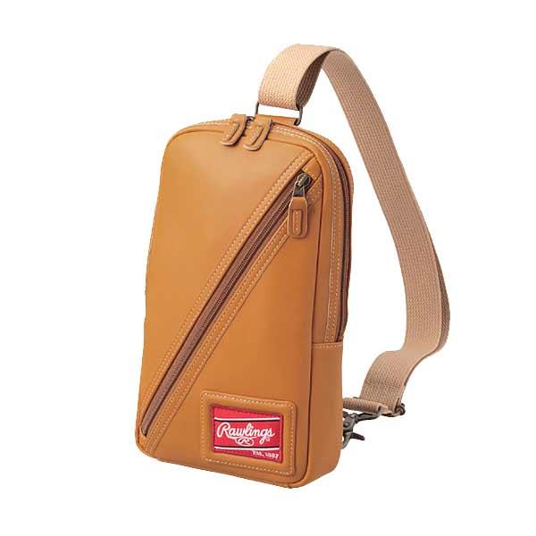 棒球世界全新日本進口Rawlings 棒球用皮革製側背包 特價