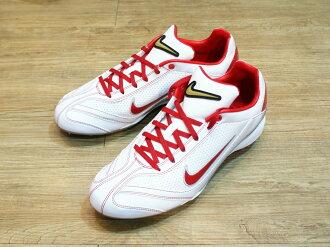 棒球世界 全新12年 NIKE AIR CLIPPER CONV J EDGE棒球釘鞋 特價 白紅配色