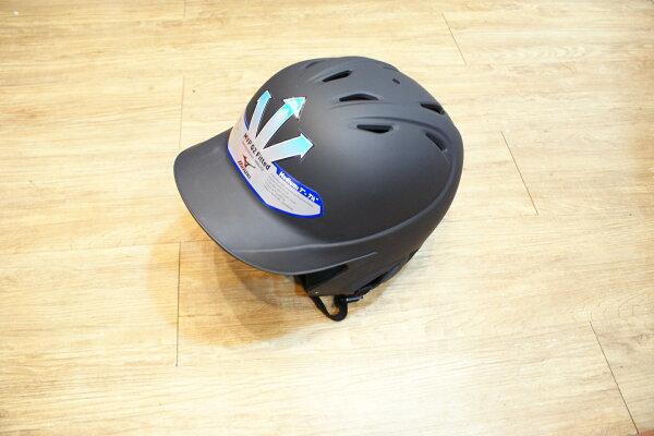 棒球世界MIZUNO美津濃霧面打擊頭盔全新上市(黑色) 特價