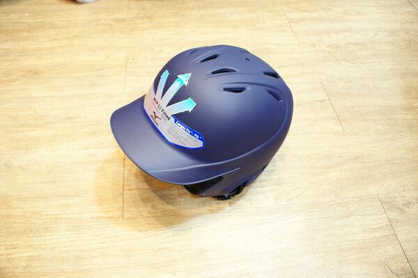 棒球世界MIZUNO美津濃霧面打擊頭盔全新上市(深藍色) 特價