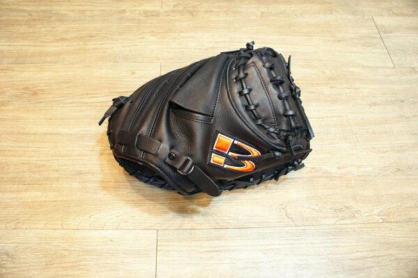 棒球世界 BRETT【神鬼戰士】獨家款職業級牛革棒球捕手手套 特價