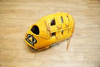 棒球世界 全新雙塔 X3 職棒級牛皮 棒壘手套 特價 外野雙十字