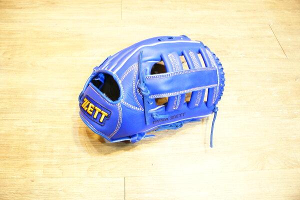 棒球世界 全新ZETT棒球外野手手套 藍色款 特價 雙十字檔