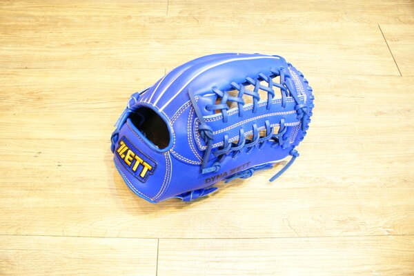 棒球世界 全新ZETT棒球野手用手套 藍色款 特價 T網檔