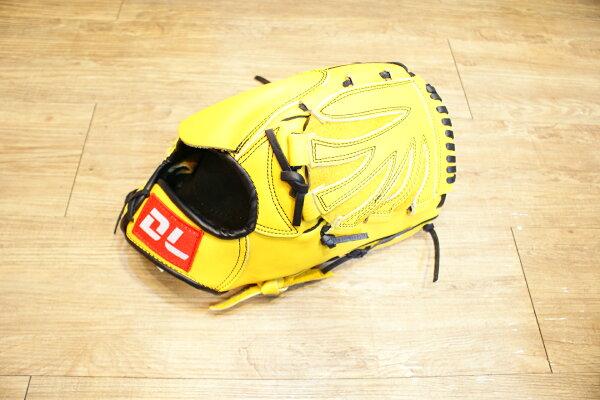 〈棒球世界〉DL內野投手黃色訂製款 12.5吋棒壘手套 特價 送手套袋 人氣賣家商品