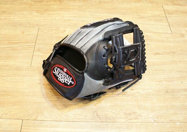 棒球世界 Louisvill Slugger 路易斯威爾TPX 布織布 工字棒壘球手套 特價 黑銀配