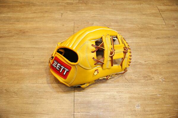 棒球世界 全新zett原皮色棒壘球手套 特價 工字檔 12吋