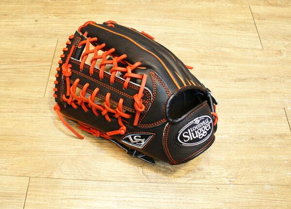 棒球世界 全新Louisvill Slugger 路易斯威爾TPX黑橘配色外野手手套 特價 左撇子用