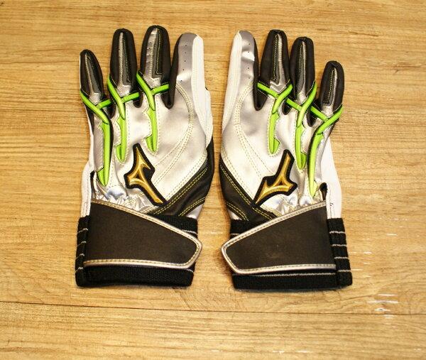 棒球世界 美津濃Mizuno Pro POWER ARC 打擊手套 特價 綠色 人氣賣家商品