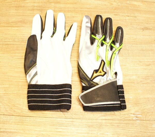 棒球世界 美津濃Mizuno Pro POWER ARC 打擊手套 特價 白綠配色