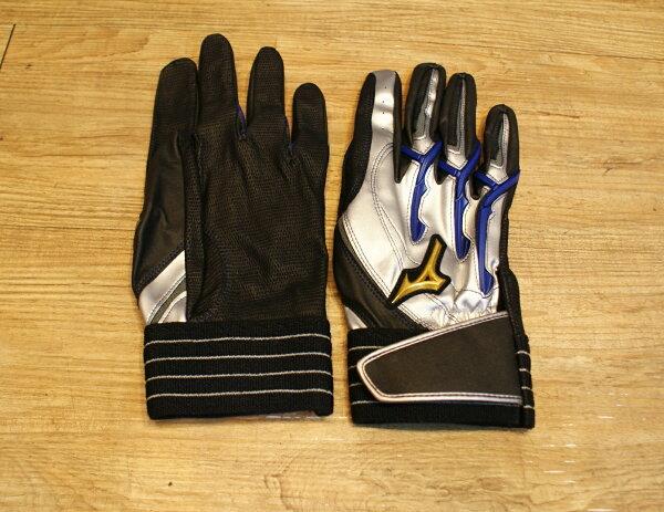 棒球世界 美津濃Mizuno Pro POWER ARC 打擊手套 特價 藍黑色