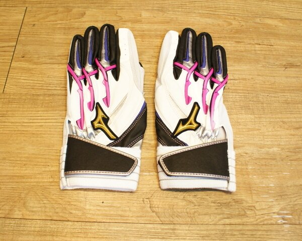 棒球世界 美津濃Mizuno Pro POWER ARC 打擊手套 特價  白粉