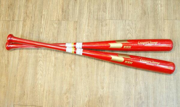 棒球世界 全新SSK 600P職業級楓木棒球棒 特價 紅色款
