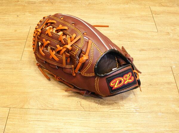 〈棒球世界〉DL內野網狀訂製款 12.吋咖啡色棒壘手套 特價 送手套袋 左撇子用