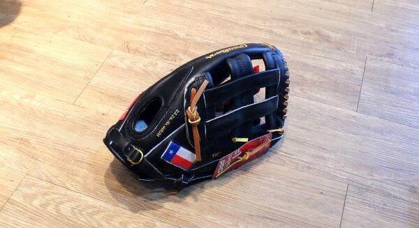 """棒球世界 全新Rawlings TX127H 12.75"""" 雙十字球擋高級手套【美國德州球隊請原廠訂製】"""