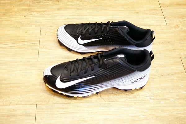 棒球世界14年新款 nike vapor keystone 黑白配色 膠釘壘球鞋 特價