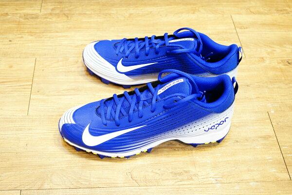 棒球世界14年新款 nike vapor keystone 藍白配色 膠釘壘球鞋 特價