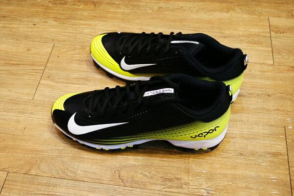 棒球世界14年新款 nike vapor keystone 黑螢光配色 膠釘壘球鞋 特價